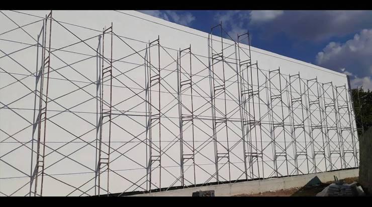 Vip Dekorasyon – Çanakkale Ezine Zeytin Fabrikası Dış Cephe Tasarımı:  tarz Duvarlar