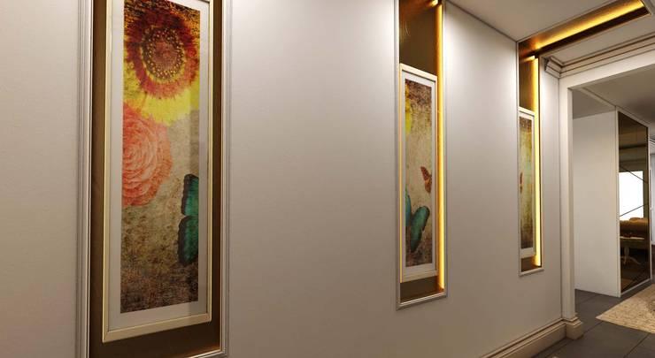 ANTE MİMARLIK  – Semran G. Villa:  tarz Koridor ve Hol