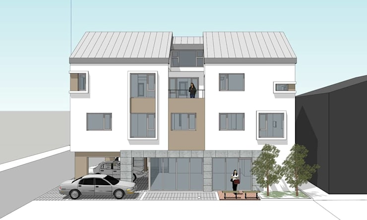 장유 상가주택: 건축사사무소 에이플랜의  ,