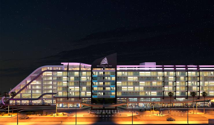 Hotel Balcones del Mar: Anexos de estilo  por NOGARQ C.A.