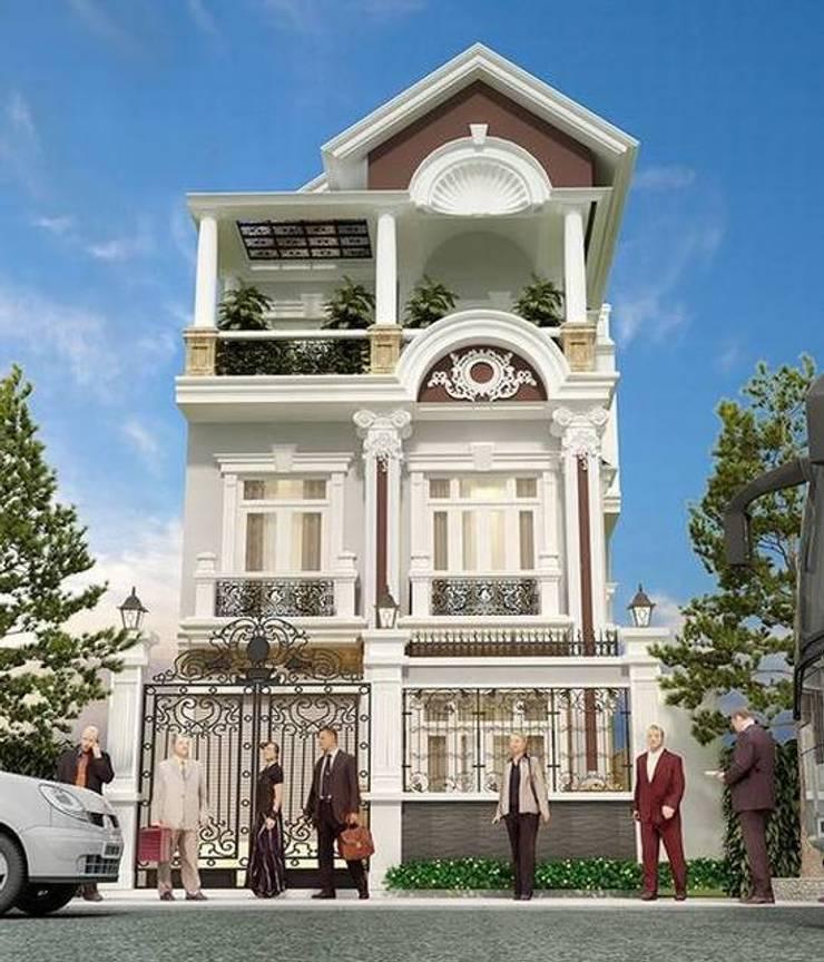 Những mẫu thiết kế biệt thự 3 tầng tân cổ điển đẹp nhất:   by Kiến Trúc Xây Dựng Incocons