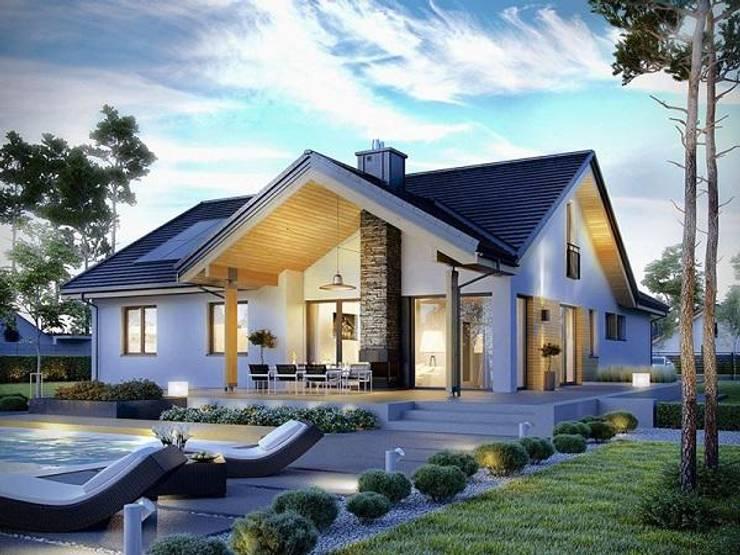 Tư vấn thiết kế nhà cấp 4 60m2 hiện đại, siêu tiết kiệm:   by Kiến Trúc Xây Dựng Incocons
