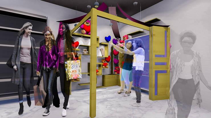 Tienda de Regalos y Accesorios: Espacios comerciales de estilo  por Cindy Castañeda