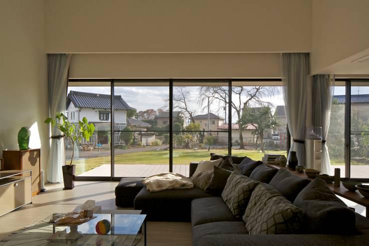 Phòng khách theo JWA,Jun Watanabe & Associates, Hiện đại Gỗ Wood effect