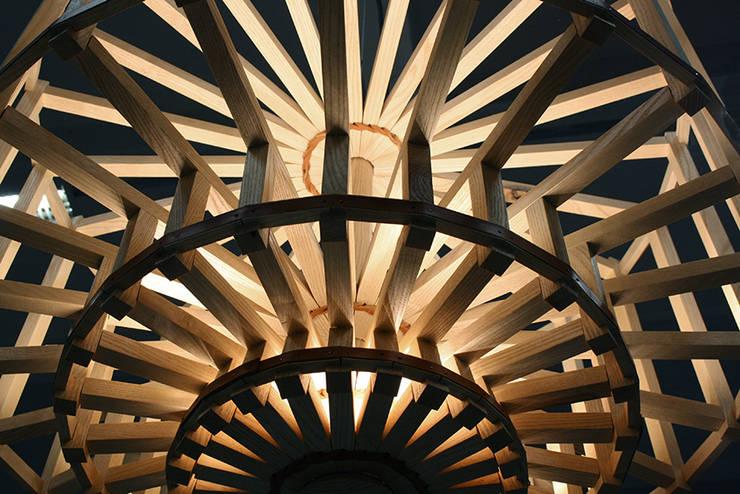 Lustre Isaac: Couloir, entrée, escaliers de style  par Anja Clerc Design