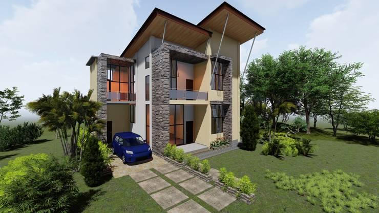 Desain Rumah 2 Lantai - Timika :   by Adonara Design