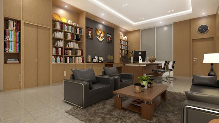 Ruang Manager:  Kantor & toko by Arsitekpedia