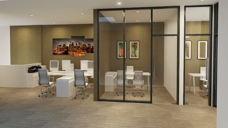 Ruang Kerja:  Kantor & toko by Arsitekpedia