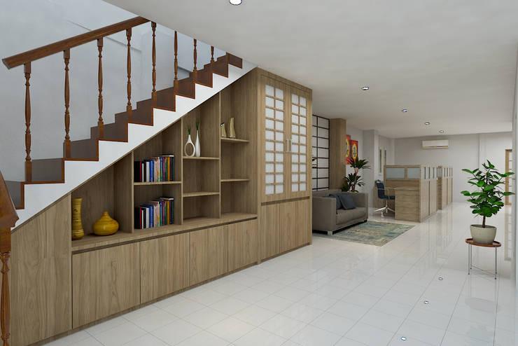 Ruang Staff :  Kantor & toko by Arsitekpedia