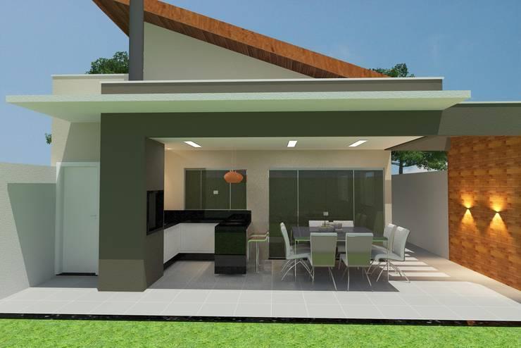 Quintal: Casas familiares  por Júlio Padilha Fabiani - Arquiteto