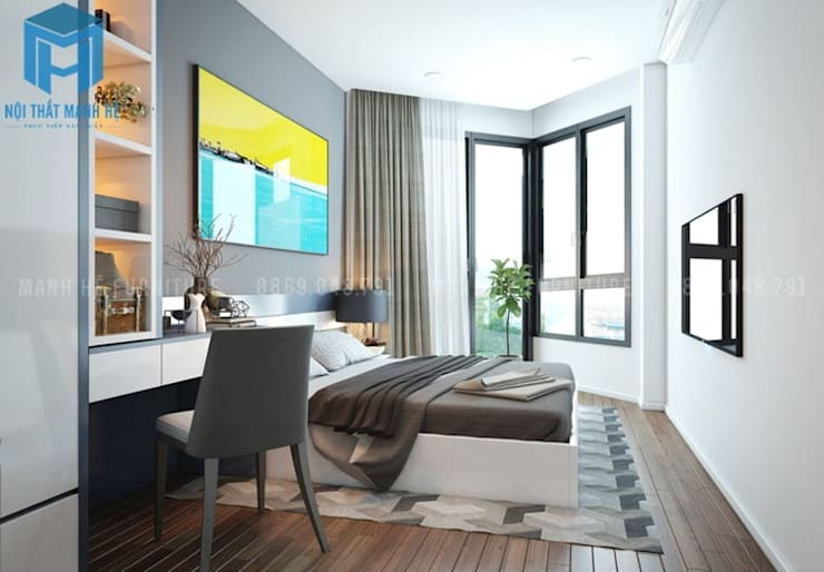 Dormitorios de estilo  de Công ty TNHH Nội Thất Mạnh Hệ