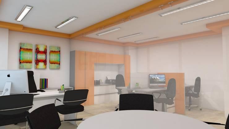 Vista de oficina de operaciones. :  de estilo  por Pérez | Ferré  Asociados