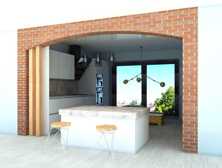 SKY İç Mimarlık & Mimarlık Tasarım Stüdyosu – Bodrum Villa Projesi:  tarz Mutfak
