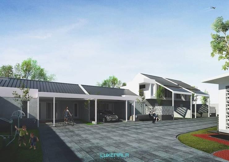 Interior Tipe 72 bersebelahan dengan Tipe 45:  Rumah by Lukemala Creative Studio