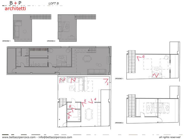 Loft Zarini:  in stile  di B+P architetti