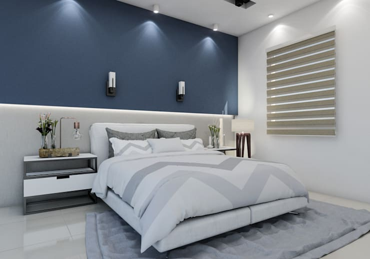 Diseño y decoración de apartamento nuevo: Dormitorios de estilo  por Cindy Castañeda