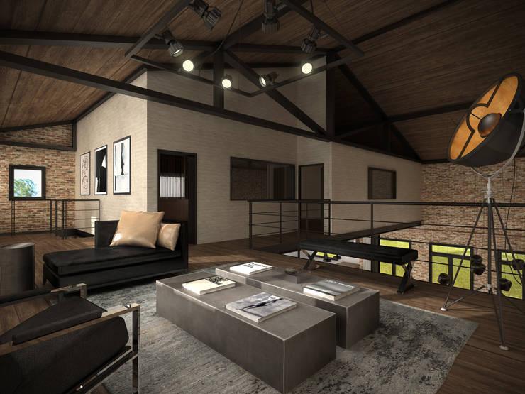 Living primer piso: Livings de estilo  por Fainzilber Arqts.