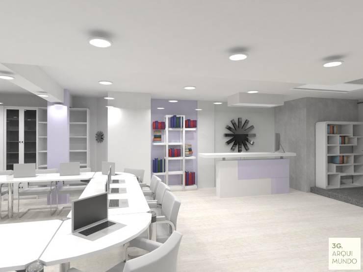 Hall de acceso a Espacio de trabajo compartido:  de estilo  por Arquimundo 3g.