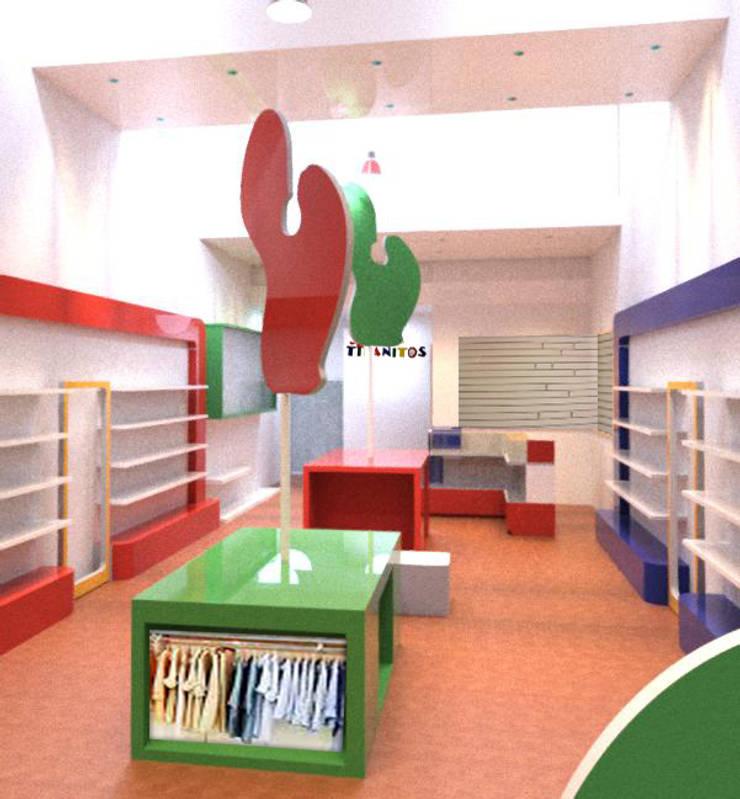 Bocetos el interior presentados al cliente:  de estilo  por Faerman Stands y Asoc S.R.L. - Arquitectos - Rosario