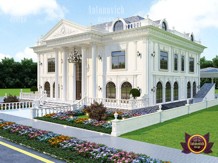Symmetrical Facade Design:   by Luxury Antonovich Design