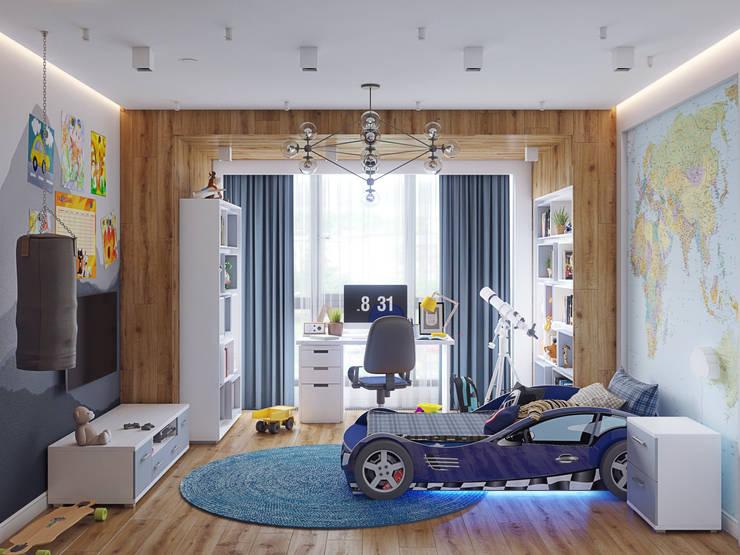 Nursery/kid's room by Loft&Home
