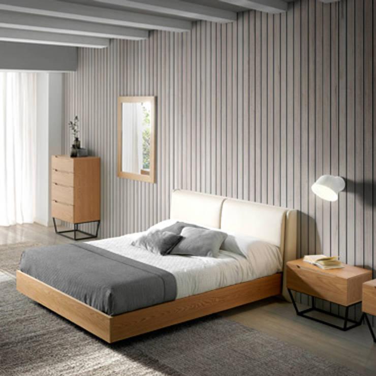 Dormitorio de diseño italiano de la nueva colección Atelier by Angel Cerdá: Dormitorios de estilo  de ANGEL CERDA