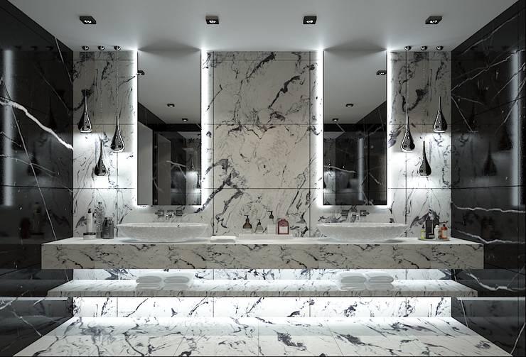 Baños de estilo  por FA - Fehmi Akpınar İç Mimarlık