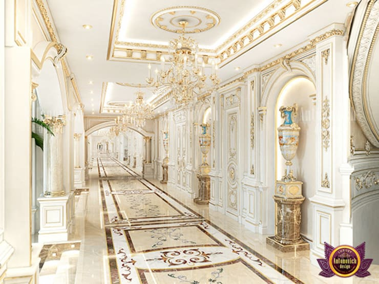 WONDERFUL HALL DESIGN:   by Luxury Antonovich Design