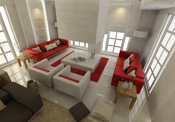 ŞEBNEM MIZRAK  – Bodrum Ev Tasarımı / Oturma Odası:  tarz Oturma Odası