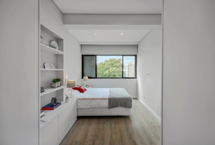 Cuartos pequeños de estilo  por ARQ1to1 - Arquitectura, Interiores e Decoração, Moderno
