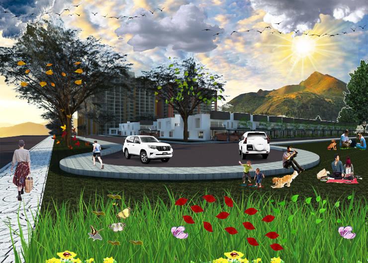 RENDER EXTERIOR : Casas multifamiliares de estilo  por OBS DISEÑO & CONSTRUCCION.