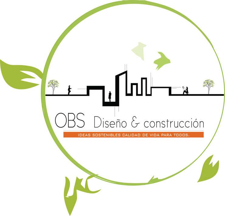 OBS DISEÑO & CONSTRUCCION.: Casas campestres de estilo  por OBS DISEÑO & CONSTRUCCION.
