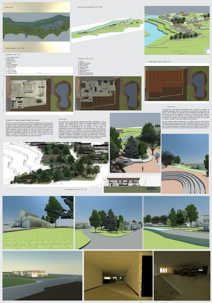 casa campestre los alpes : Casas campestres de estilo  por OBS DISEÑO & CONSTRUCCION., Minimalista Concreto reforzado