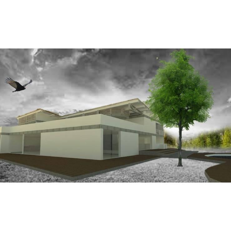 perspectiva : Casas campestres de estilo  por OBS DISEÑO & CONSTRUCCION., Minimalista Concreto reforzado