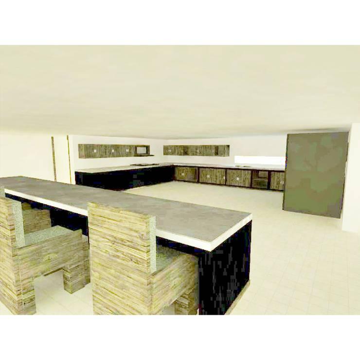 interior casa : Casas campestres de estilo  por OBS DISEÑO & CONSTRUCCION., Minimalista Concreto reforzado
