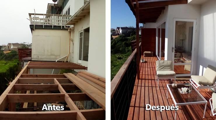 Remodelación y ampliación de Casa en Algarrobo: Terrazas  de estilo  por Lares Arquitectura