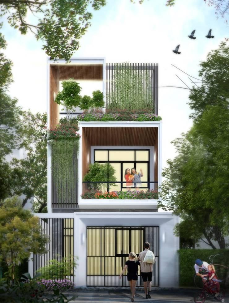 Tư vấn xây nhà 3 tầng trên diện tích 120m2 chỉ với 1,5 tỷ đồng:   by Kiến Trúc Xây Dựng Incocons
