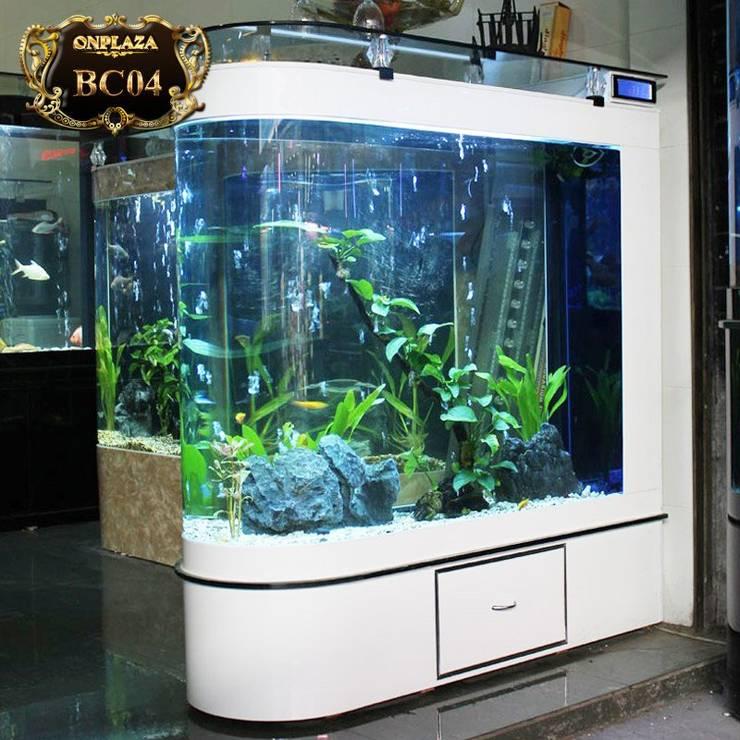 Bể cá đặt trong nhà cao cấp cực đẹp BC04:   by Công Ty Thi Công Và Thiết Kế Tiểu Cảnh Non Bộ