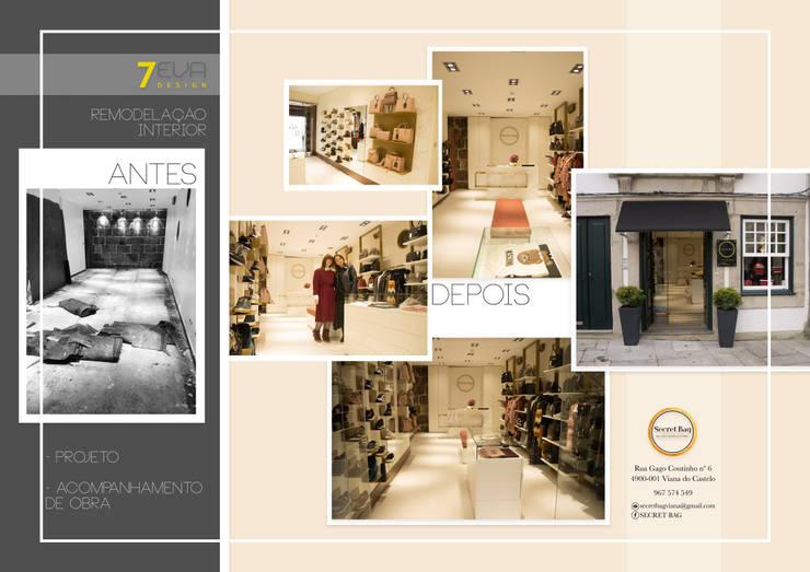 ESPAÇO MINIMALISTA :   por 7eva design  - Arquitectura e Interiores,