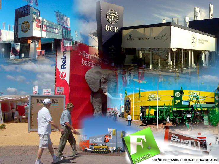 Imágenes de trabajos realizados para ferias de campo en Argentina: Centros de exposiciones de estilo  por Faerman Stands y Asoc S.R.L. - Arquitectos - Rosario,