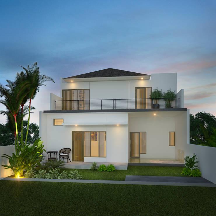Eksterior Rumah:  Rumah by Arsitekpedia