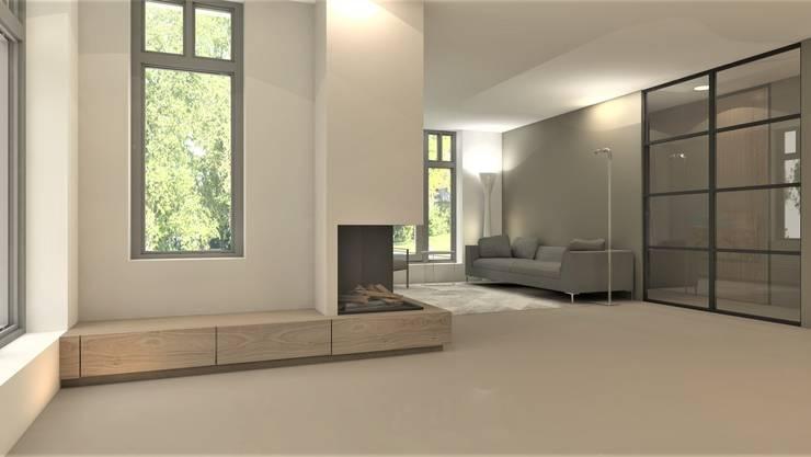 Woonkamer modern:  Woonkamer door Studio DEEVIS