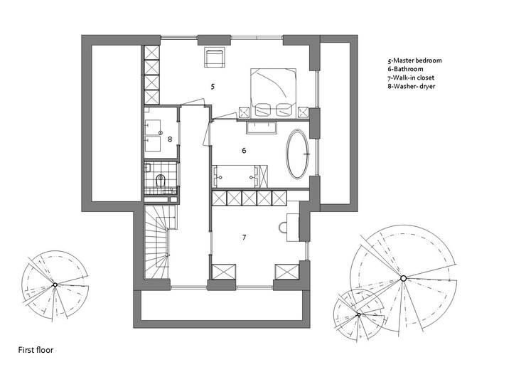 Plattegrond eerste verdieping:   door Studio DEEVIS