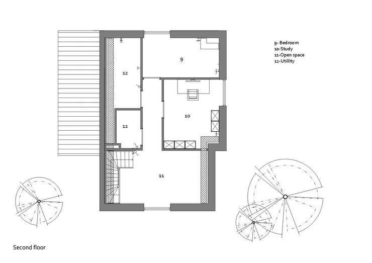 Plattegrond tweede verdieping:   door Studio DEEVIS