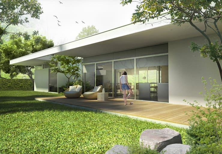 Diseño de Casa en Managua, Nicaragua por SMF Arquitectos: Casas unifamiliares de estilo  por SMF Arquitectos  /  Juan Martín Flores, Enrique Speroni, Gabriel Martinez