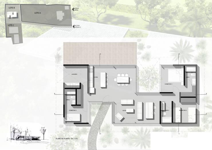 Diseño de Casa en Managua, Nicaragua por SMF Arquitectos:  de estilo  por SMF Arquitectos  /  Juan Martín Flores, Enrique Speroni, Gabriel Martinez