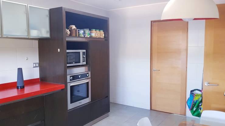 Paredes y piso : Cocinas equipadas de estilo  por SIMPLEMENTE AMBIENTE mobiliarios hogar y oficinas santiago