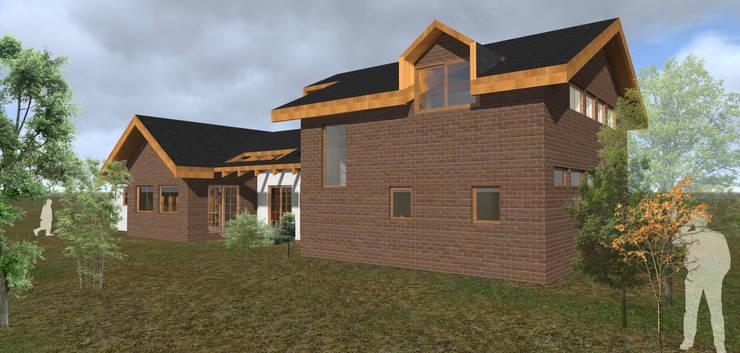 VIVIENDA RURAL – PARCELAS SANTA JULIA MELIPILLA: Casas unifamiliares de estilo  por Vicente Espinoza M. - Arquitecto