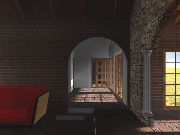Corredores e halls de entrada  por Vicente Espinoza M. - Arquitecto