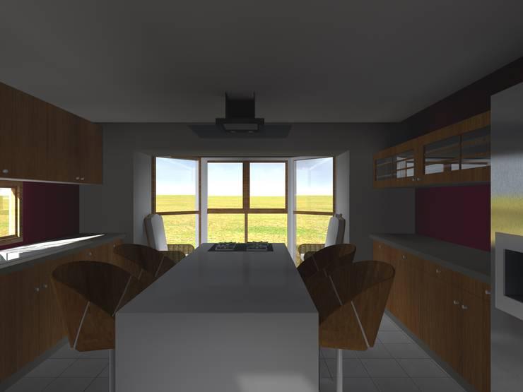Cocinas de estilo  por Vicente Espinoza M. - Arquitecto